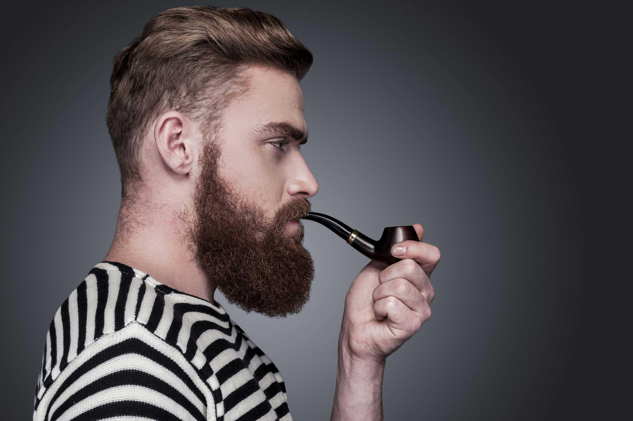 курение и рост бороды