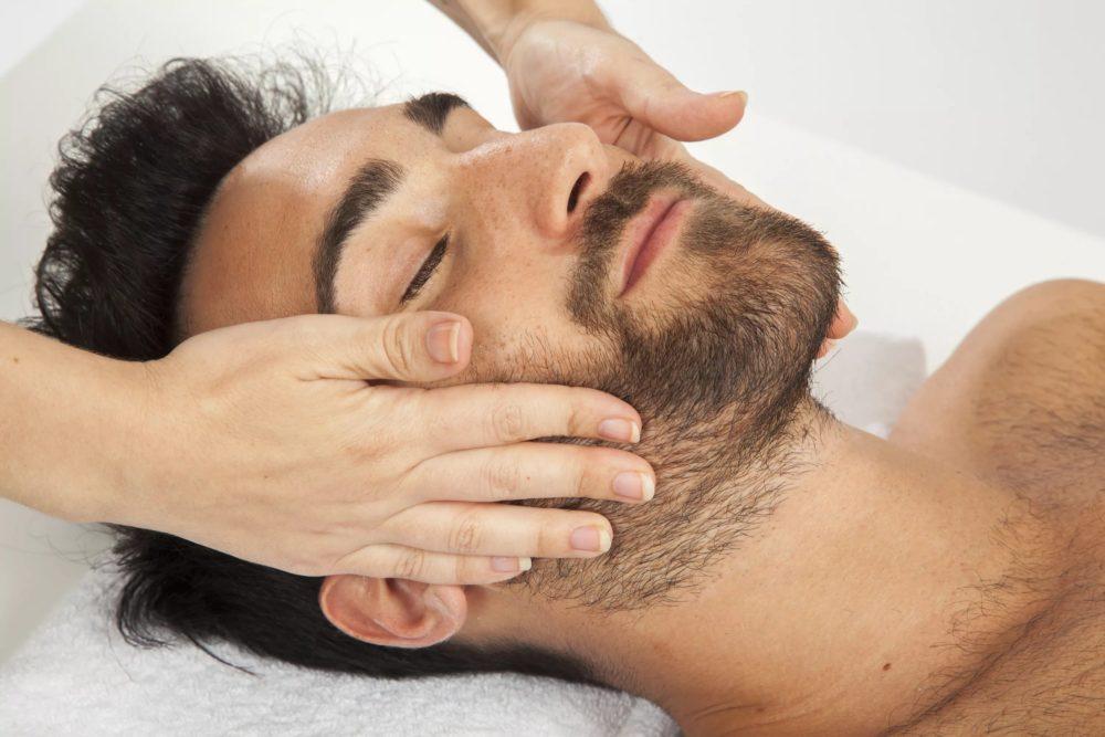 Массаж бороды