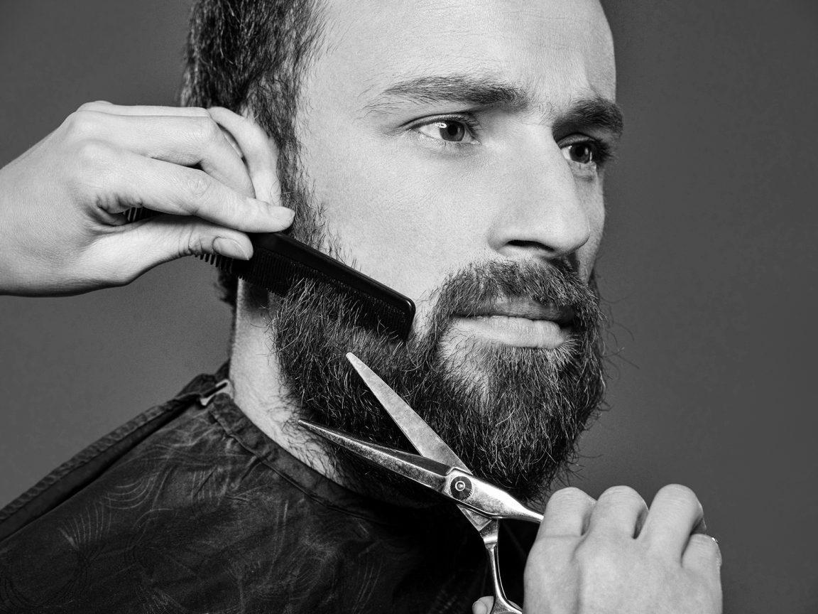 Подстригание жидкой бороды
