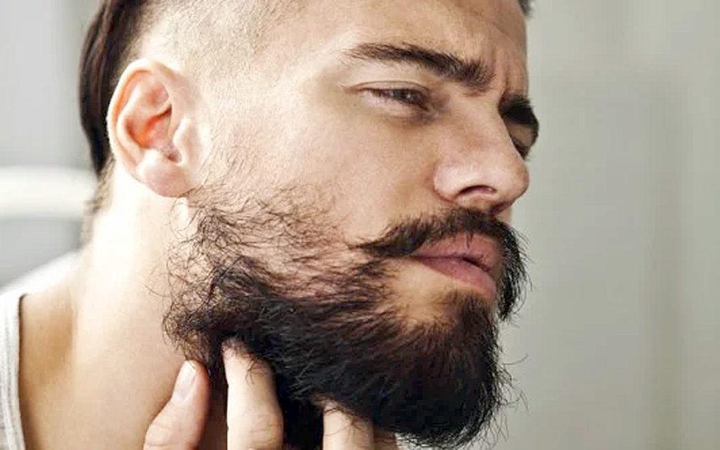 борода растет в разные стороны