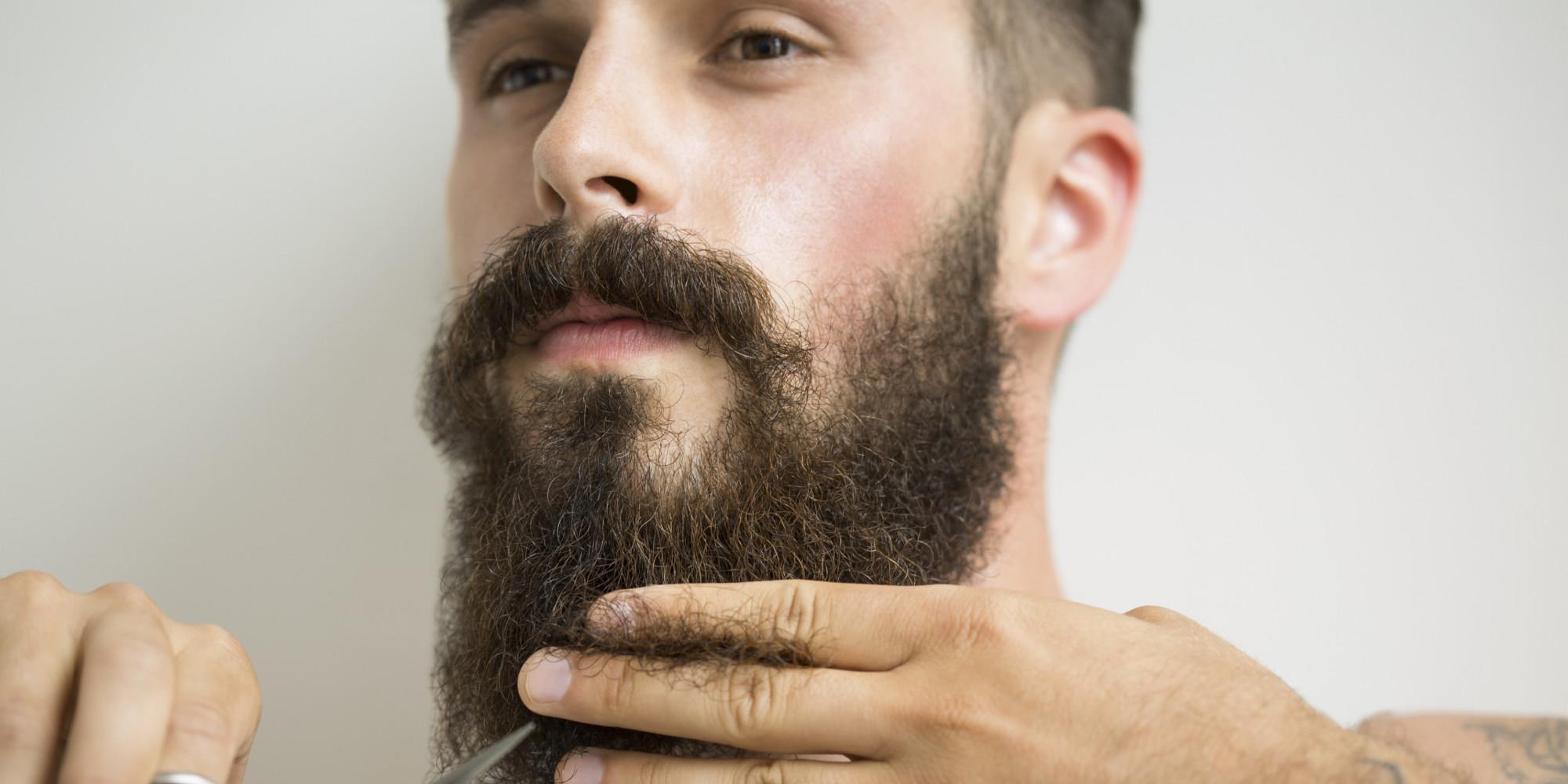 Стрижка волос на бороде